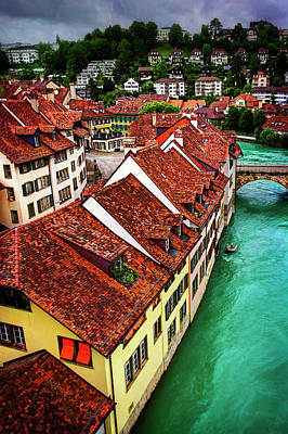 The Red Rooftops Of Bern Switzerland  Art Print