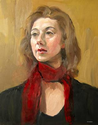 Painting - The Red Scarf by Robert Holden