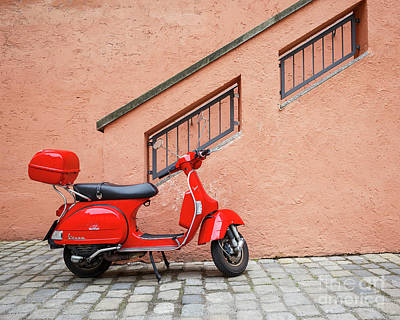 Photograph - The Red Scooter by Dennis Hedberg