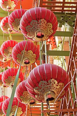 Photograph - The Red Sea - Chinatown Lanterns San Francisco by Melanie Alexandra Price