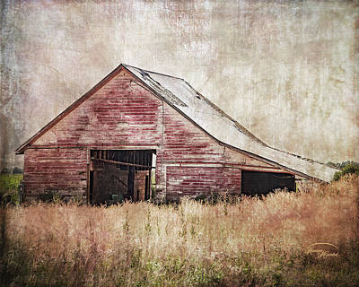 Digital Art - The Red Shed by Ramona Murdock