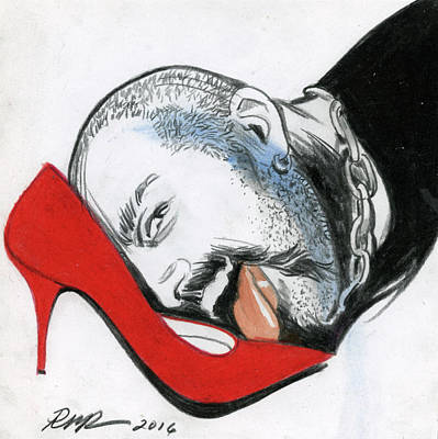 The Red Shoe Art Print