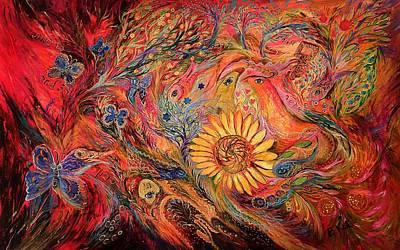 The Red Sirocco Art Print by Elena Kotliarker
