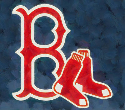 Painting - The Red Sox by Dan Sproul