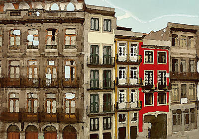 Digital Art - The Red Tenement  by Shelli Fitzpatrick