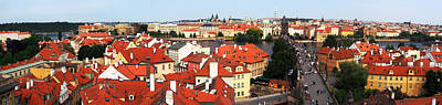 Photograph - The Red Tile Roofs Of Prague by C H Apperson