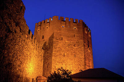 Photograph - The Red Tower At Night by Sun Travels