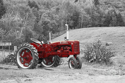 Aimelle Photograph - The Red Tractor by Aimelle