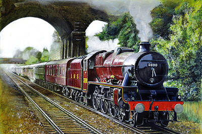 Leander Painting - The Red Train by David James