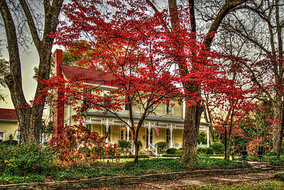Photograph - The Red Tree And The Tea Room Winter Art by Reid Callaway