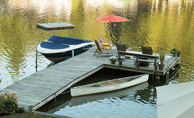 Photograph - The Red Umbrella At The Lake by E Faithe Lester
