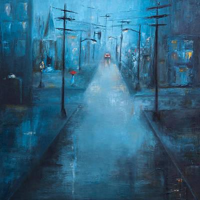 Painting - The Red Umbrella by Nicole Daniah Sidonie