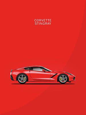 Corvette Photograph - The Red Vette by Mark Rogan
