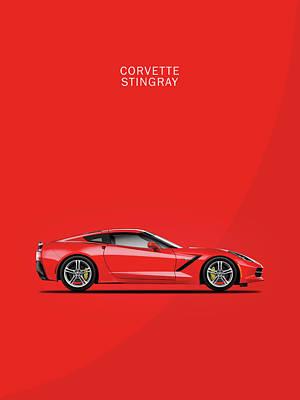 Chevrolet Corvette Photograph - The Red Vette by Mark Rogan