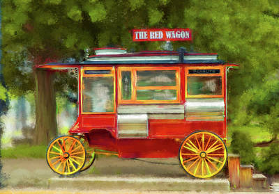 Photograph - The Red Wagon by Mary Timman