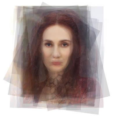 Hbo Digital Art - The Red Woman Melisandre by Steve Socha