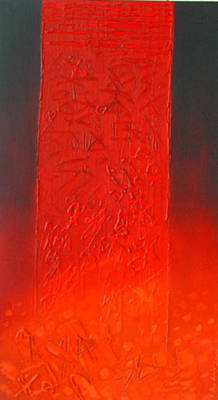 Mixed Media - the red zone I by Saadi Babely