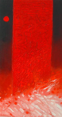 Mixed Media - the red zone II by Saadi Babely