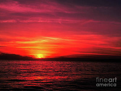 Photograph - The Reddened Sunset by Fei A