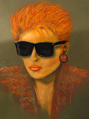 Pastel - The Redhead by Barbara J Blaisdell