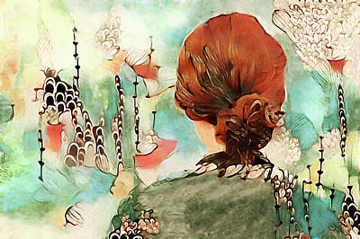 Mixed Media - The Redhead by Susan Maxwell Schmidt