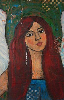 Painting - The Redheaded Mermaid by Denise Lynch