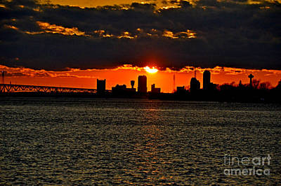 I Love Canada Photograph - The Reds And Golds Of Sunset by Sheila Lee