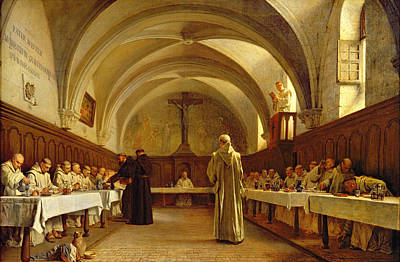 Clergy Painting - The Refectory by Theophile Gide