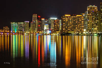 Photograph - The Reflecting City Miami Florida by Rene Triay Photography