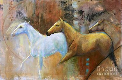 The Reflection Of The White Horse Art Print by Frances Marino