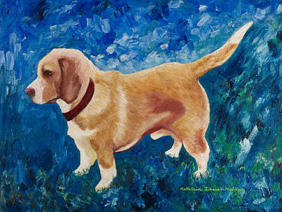 Painting - The Regal Beagle by KLM Kathel