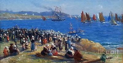 Hills Painting - The Regatta by MotionAge Designs