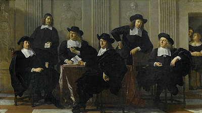 Painting - The Regents Of The Spinhuis And The Nieuwe Werkhuis In Amsterdam by Karel Dujardin