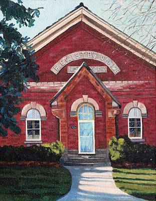 Painting - The Registry Office by Phil Chadwick