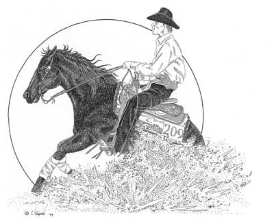 Drawing - The Reiner by Lawrence Tripoli