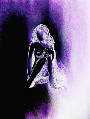 The Relaxing Woman - Purple Ecstasy  Art Print