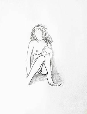 Drawing - The Relaxing Woman by Scott D Van Osdol