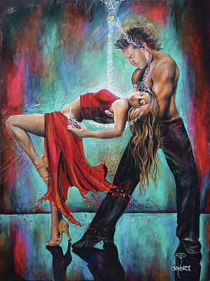 Ballroom Painting - The Release by Robyn Chance