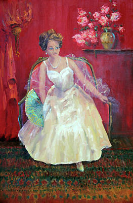 Debutante Painting - The Reluctant Debutante by Marie Green