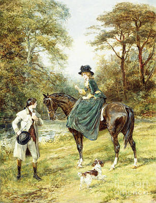 Painting - The Rendezvous by Heywood Hardy