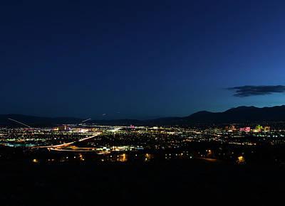 Photograph - The Reno Skyline by John Hembree