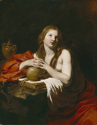 Jars Painting - The Repentant Magdalene by Nicolas Regnier