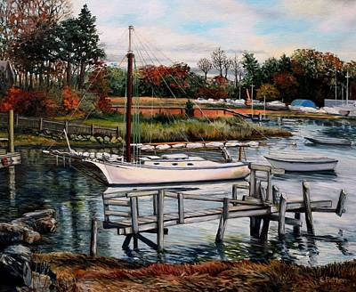 Painting - The Resolute, Essex, Ma by Eileen Patten Oliver