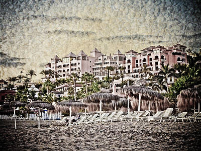 The Resort Beach Print by Loriental Photography