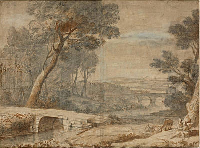 The Rest On The Flight Into Egypt Art Print by Follower of Claude Lorrain