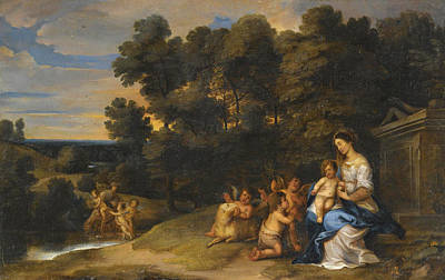 Painting - The Rest On The Flight To Eygpt by Pieter van Avont