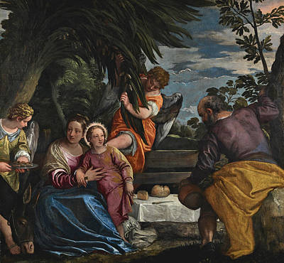Painting - The Rest On The Return From Egypt by Paolo Veronese
