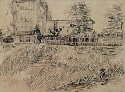 Italian Bakery Painting - The Restaurant De La Sirene At Asnieres, 1887 03 by Vincent Van Gogh