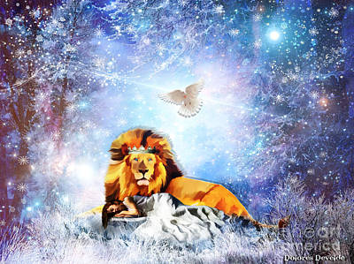 Animals Digital Art Royalty Free Images - The Resting place Royalty-Free Image by Dolores Develde
