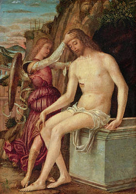 Resurrecting Painting - The Resurrected Christ With An Angel by Giovanni Francesco Maineri